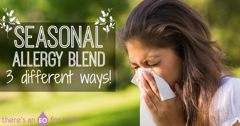 seasonal allergy blend using essential oils