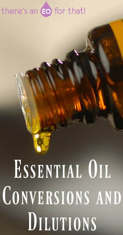 Essential Oil Conversions and Dilutions - Converting drams, milliliters, and ounces is easy when you have a simple list to follow. Don't miss out on my dilutions chart as well!