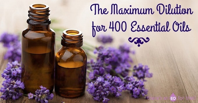 The Maximum Dilution for 400 Essential Oils