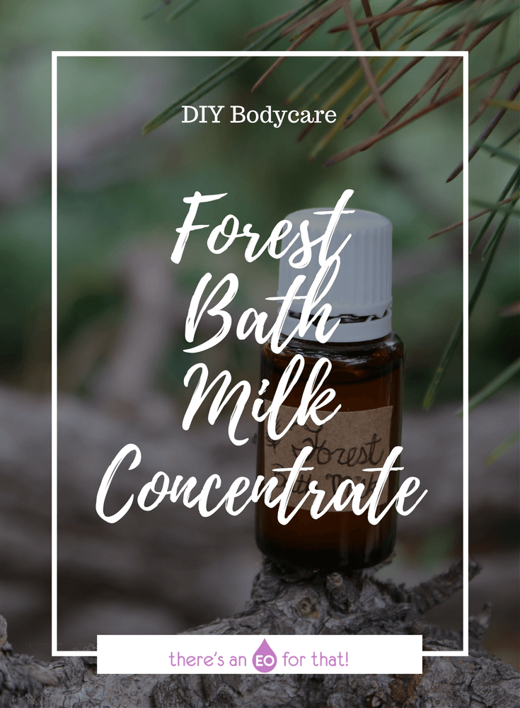 How to Make a Forest Bath Milk Concentrate that uplifts, grounds, and comforts emotions while smoothing skin. This concentrate will infuse your bathwater with the scent of essential oils.