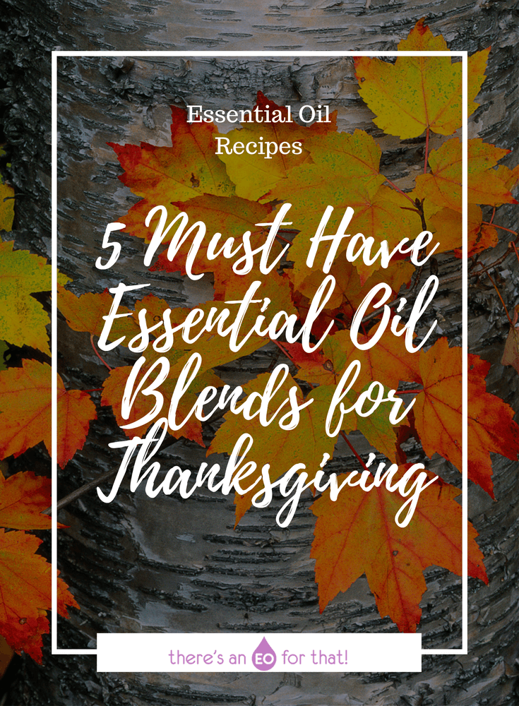 5 Must Have Essential Oil Blends for Thanksgiving - Learn how to make the BEST smelling essential oils blends for the holidays!