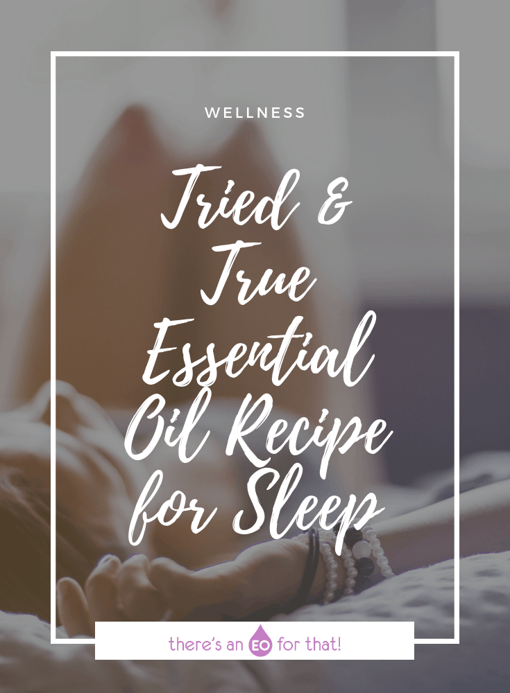 The Best Essential Oil Recipe for Sleep - Girl falling asleep.