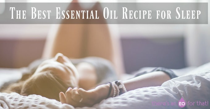 Essential Oil Recipe For Sleep. girl lying in bed falling asleep.