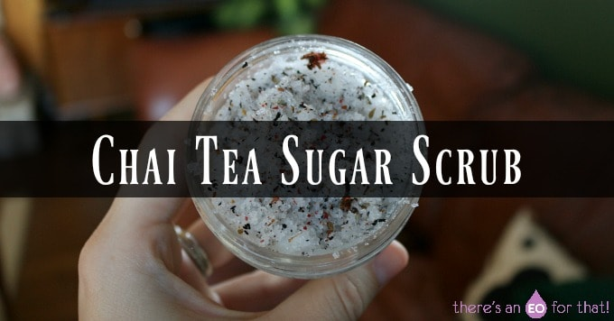 Sugar mixed with loose leaf tea in a jar